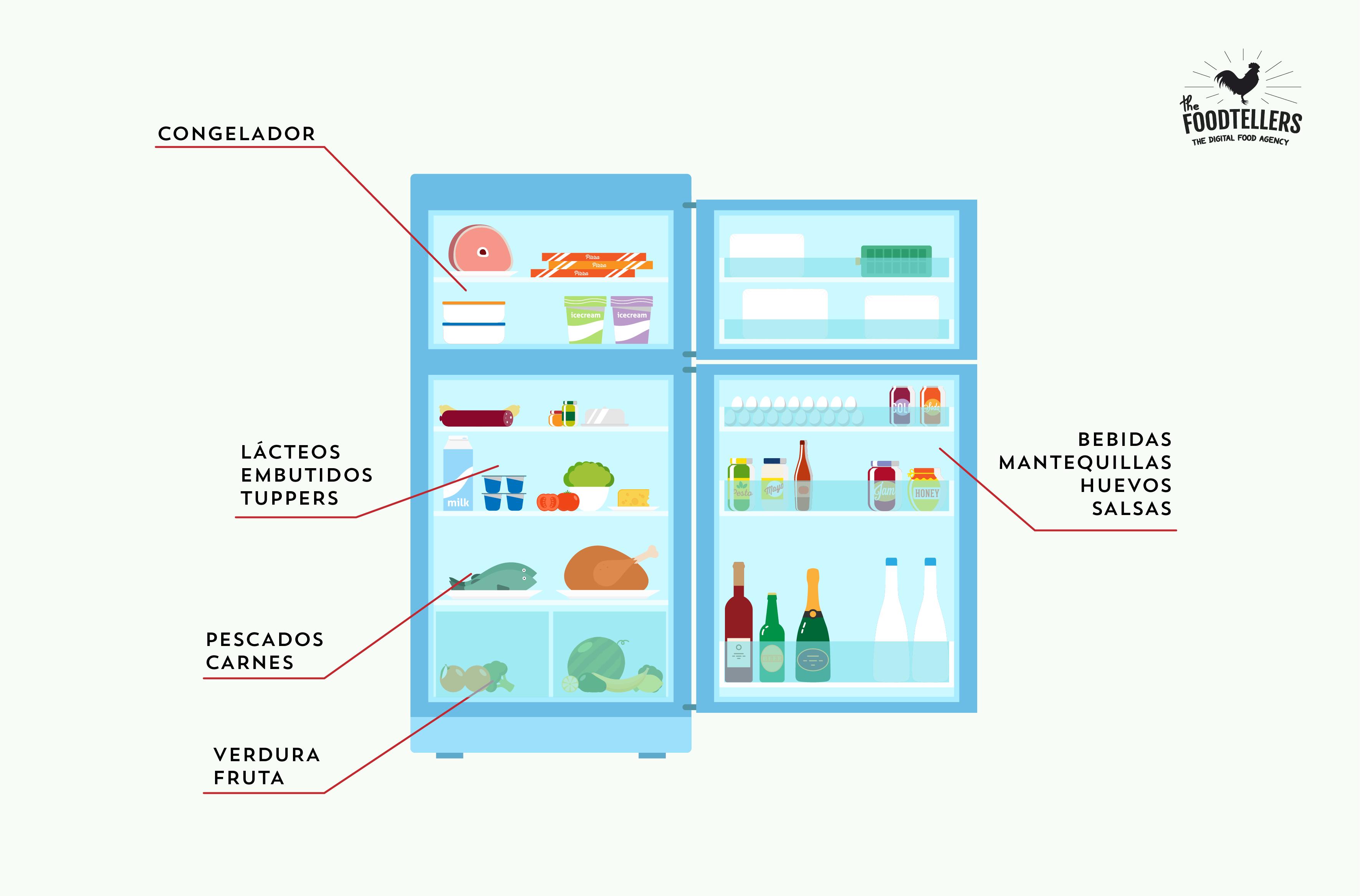 nevera infografía comida